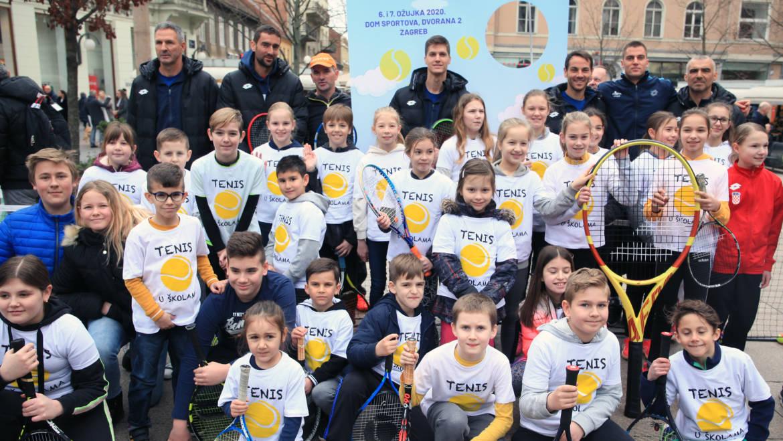 Zagrebački mališani odmjerili snage s teniskim zvijezdama