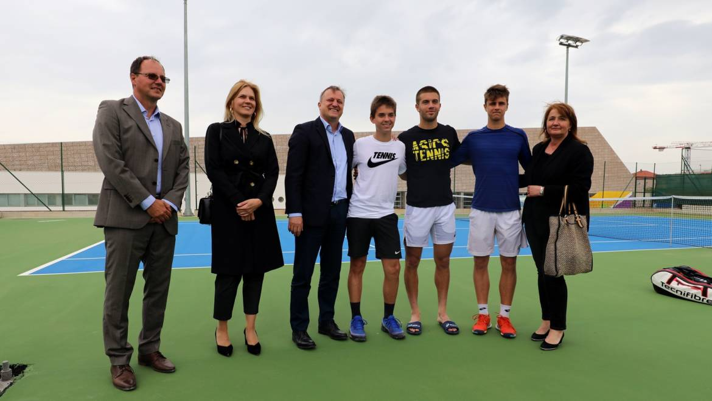 Zadarski gradonačelnik obišao tenisače u Višnjiku