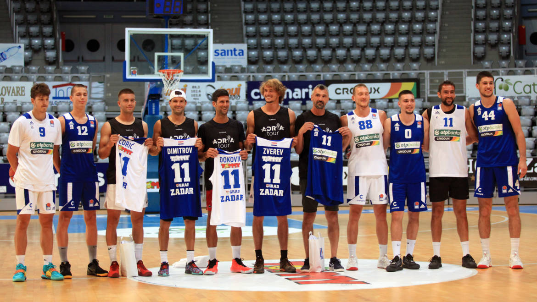 Novak Đoković i teniske zvijezde Adria Toura zaigrali košarku s igračima KK Zadar