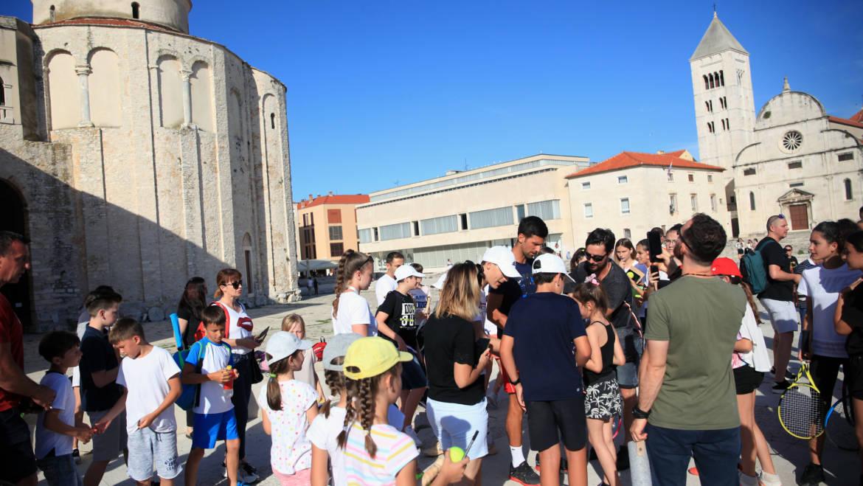 U Zadru održan Kids' Day, prvi tenisač svijeta izazvao oduševljenje na Forumu
