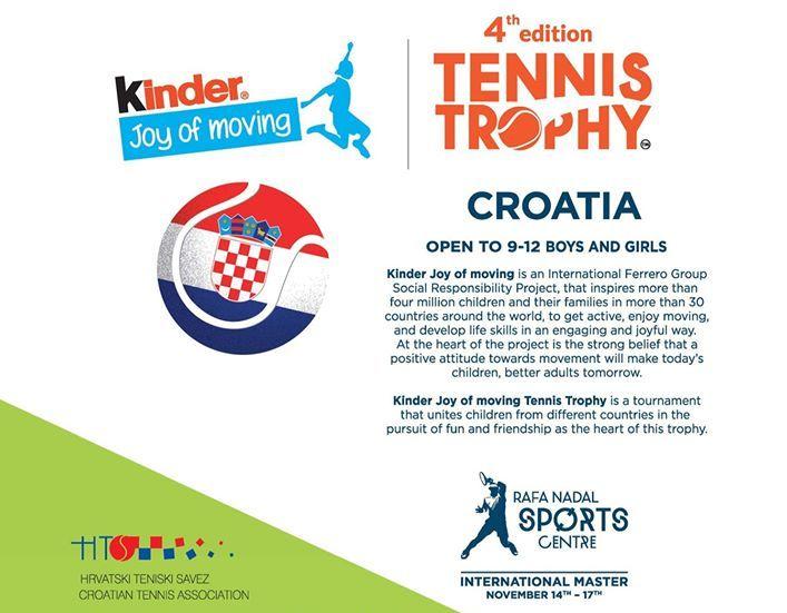 Kinder Joy of moving Tennis Trophy u rujnu prvi put u Hrvatskoj