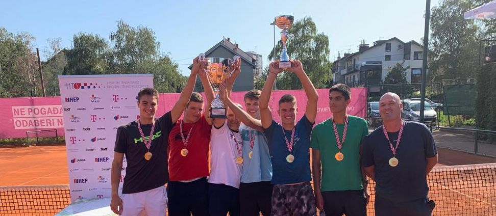 Tenisači HTK Zagreba pobjednici HEP ekipnog prvenstva Hrvatske za juniore