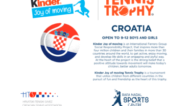 Otkazan Kinder Joy Of Moving Tennis Trophy